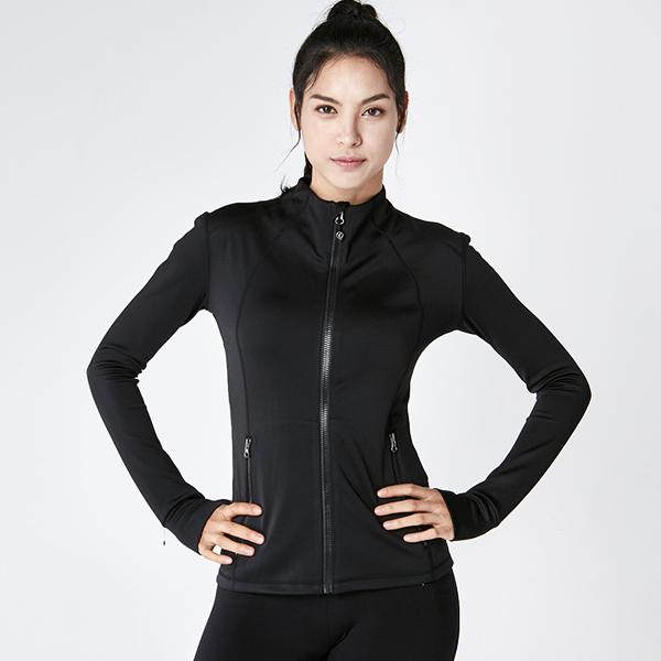 AKIII CLASSIC  <br> AJ-0103黑色<br>休闲中山立领运动女外套