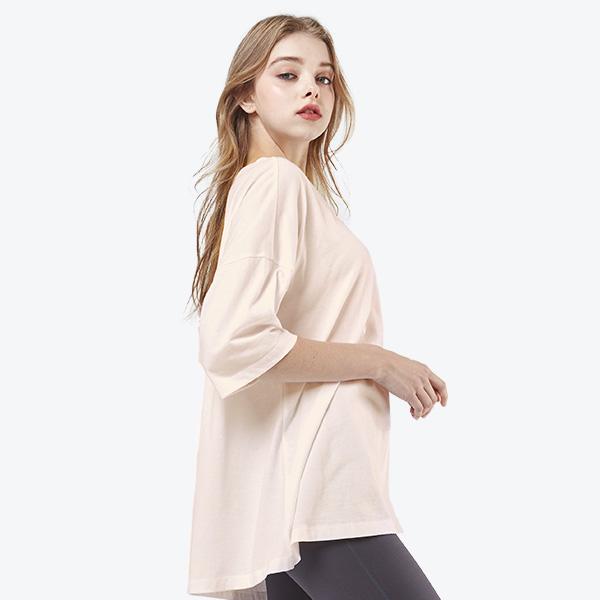 宽松短袖T恤衫<br>粉色