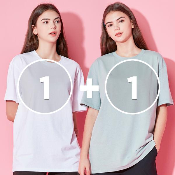 [1 + 1活动]全天短袖T恤衫