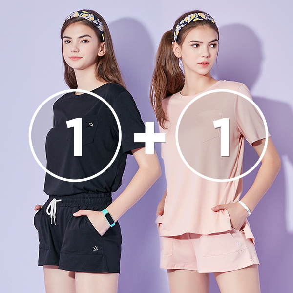 [1 + 1 EVENT] Icon口袋短袖运动服套装