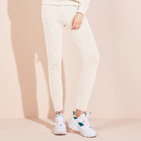 Icon标志慢跑裤<br>奶白色