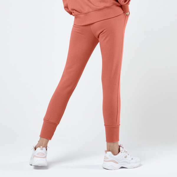 Icon标志慢跑裤<br>甜橙